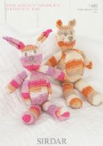 Sirdar Snuggly Smiley Stripes DK - 1480 Toy Bear and Rabbit Knitting Pattern